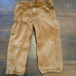 2T boys canvas dungaree Carhartt pants